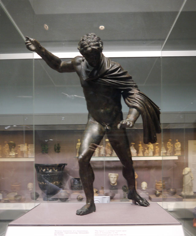 Bronze statuette of a huntsman, probably representing Alexander the Great
