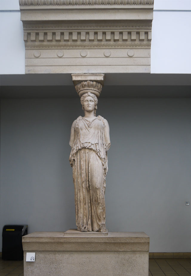 Caryatid from the Erechtheum - Pentelic Marble. About 415 BC