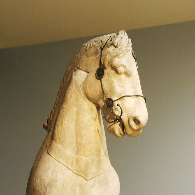 Fragments of a colossal horse from the quadriga of the Mausoleum at Halikarnassos