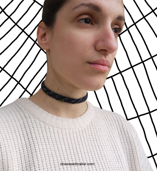 diy choker necklace from ribbon