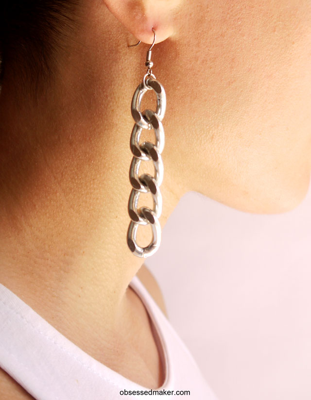 diy chain earrings