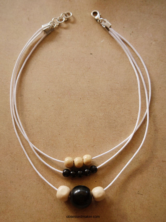 diy minimal rope choker necklace