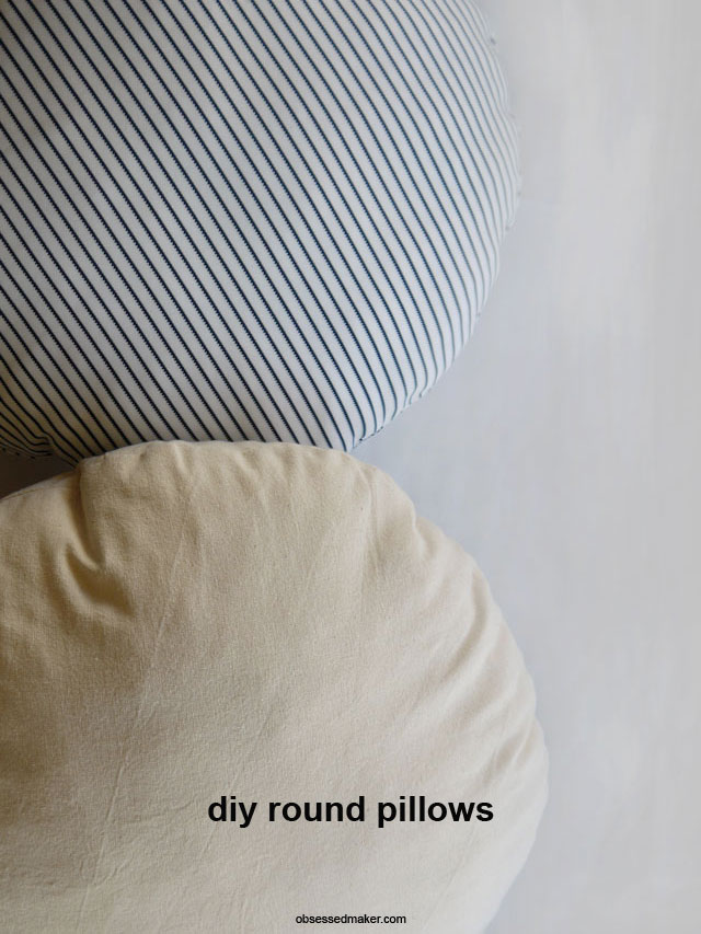 diy round pillows